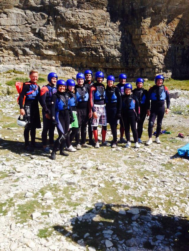 Coasteering Group shot